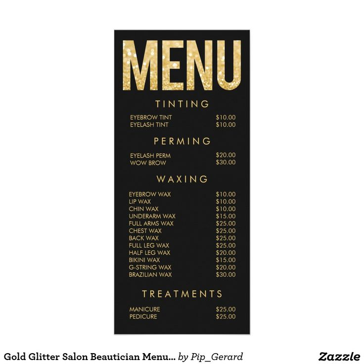 25 best ideas about Salon menu – Sample Spa Menu Template