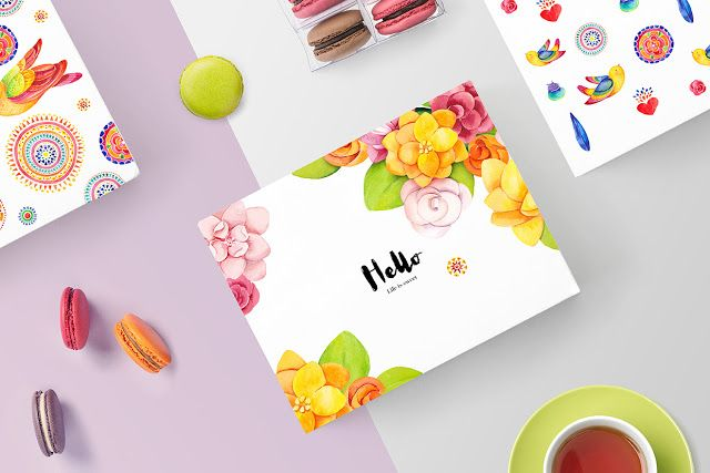"""""""Life is sweet"""" is a package design concept for macaroon brand created by SoNice…"""