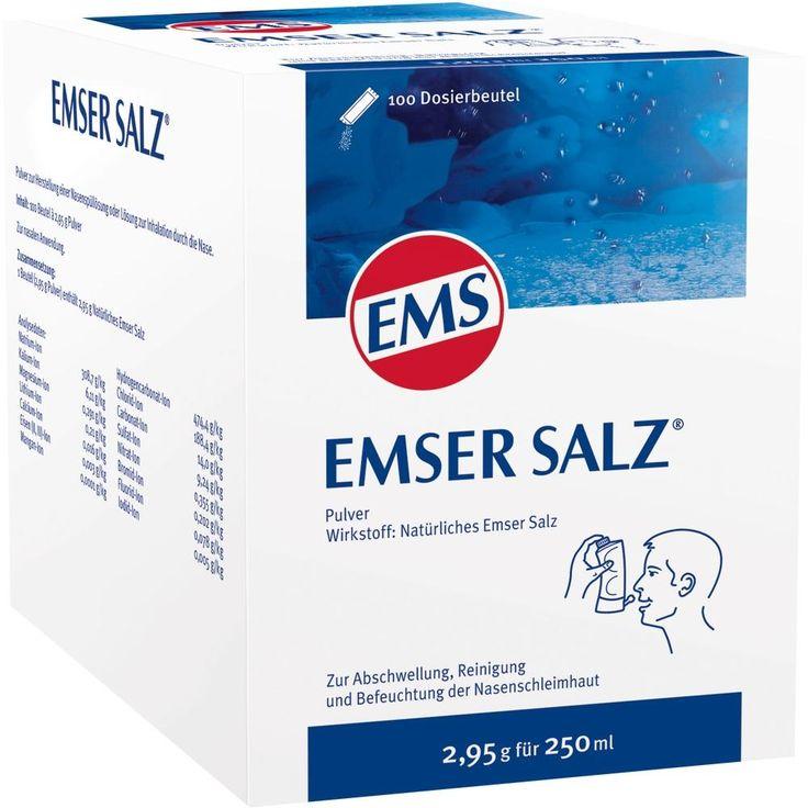 EMSER Salz Beutel:   Packungsinhalt: 100 St Pulver PZN: 07522440 Hersteller: SIEMENS & Co Preis: 23,28 EUR inkl. 19 % MwSt. zzgl.…