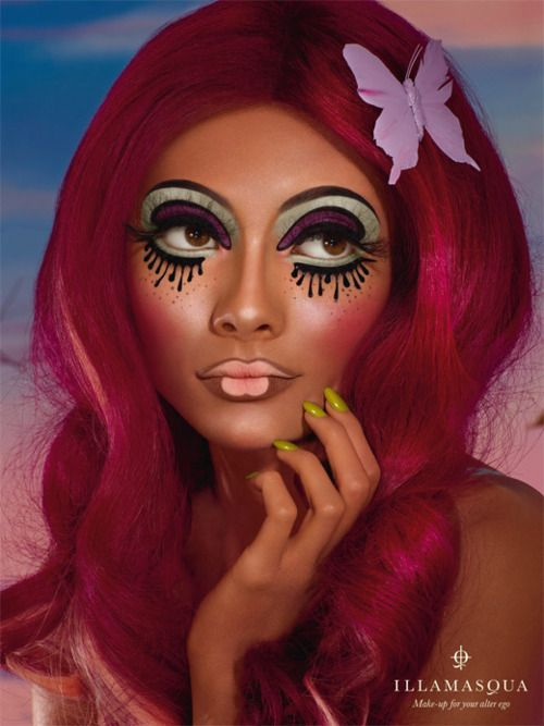Not a wear-out-of-the-house makeup look, but I love how fun, different, and inspiring Illamasqua's ad campaigns are