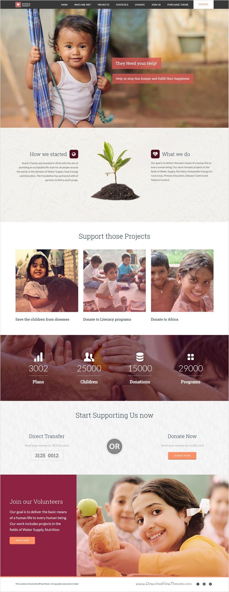 Avaris is modern design responsive multipurpose #WordPress theme for stunning #charity organization website with 12+ unique homepage layouts download now➩