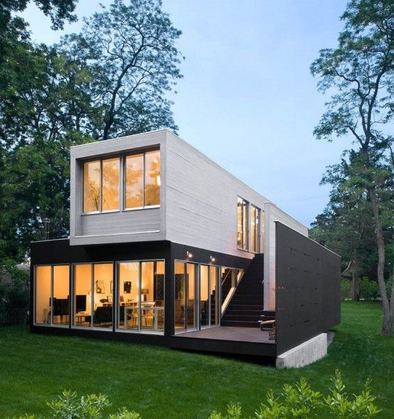 Sweet. Shipping container possibility? Stairs - inside/outside.