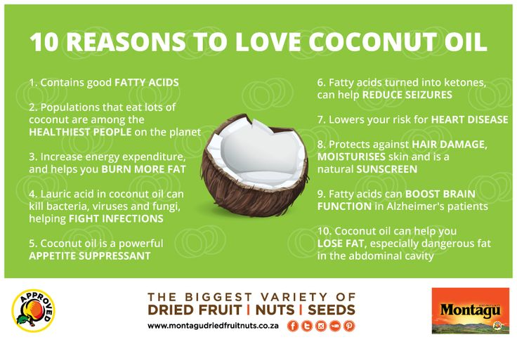Did you know that #people who eat lots of #coconut are among the #healthiest people on the #planet? And because we care about helping you stick to a healthy lifestyle, our stores stock pure premium coconut oil. Here are 10 reasons to love coconut oil: http://montagudriedfruitnuts.co.za/10-health-benefits-coconut/