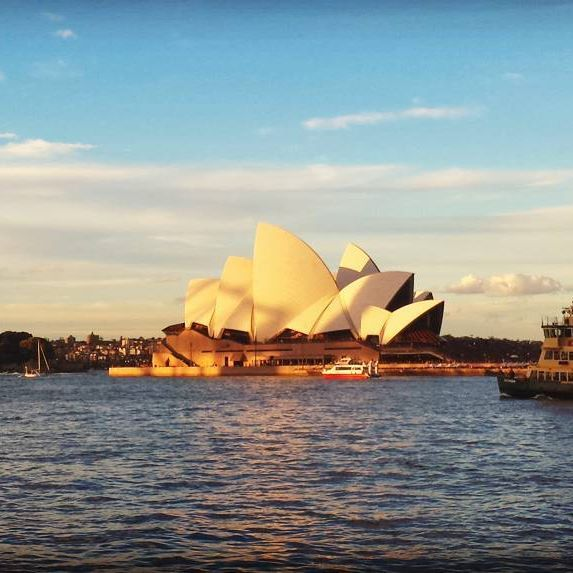 Beautiful Sydney, harbor view, Opera House and beautiful sunset