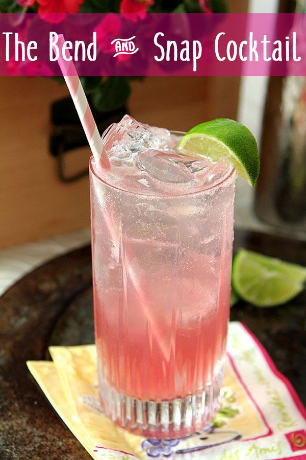 A Perfectly Pink Cocktail for Legally Blonde Lovers! Inspired by the 15th anniversary of Legally Blonde, making this is as easy as the Bend and Snap, its namesake! This is a cocktail Elle Woods herself would be proud to drink.