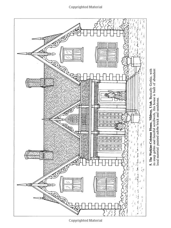 Victorian Houses Dover History Coloring Book A G