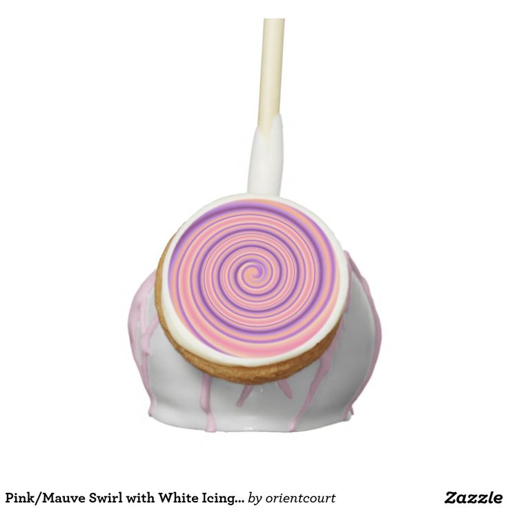 Pink/Mauve Swirl with White Icing >Cake Pops Cake Pops