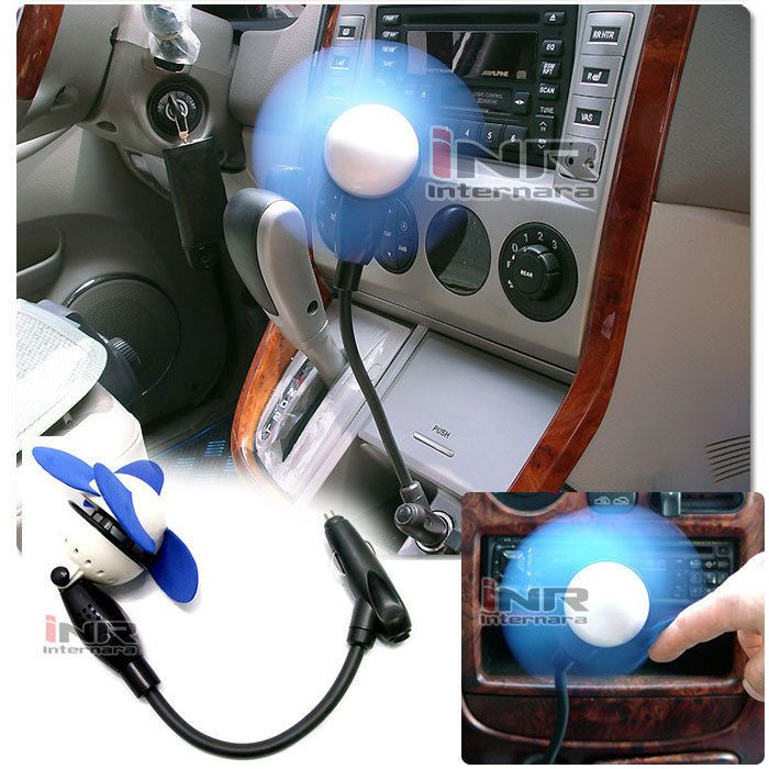 New 12V powered vehicle car cooling air fan adsorption small blue