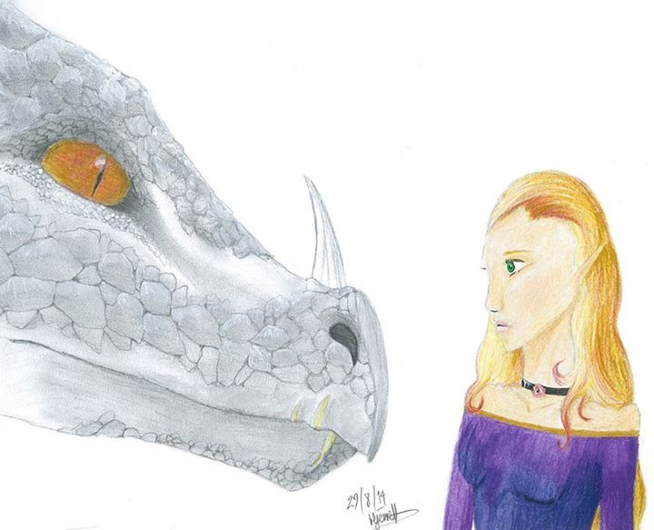 Entry 20: 'Ash Dragon and Shari-Rose' by Hecate Jerrett, age 17.