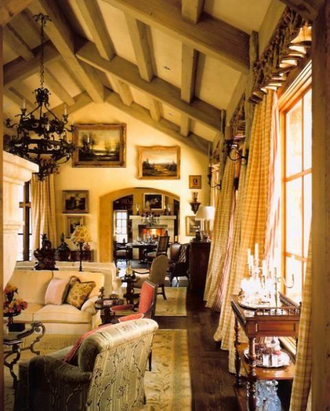 дизайн загородного дома в деревенском стиле