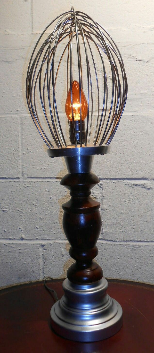 Lamp made using an industrial whisk