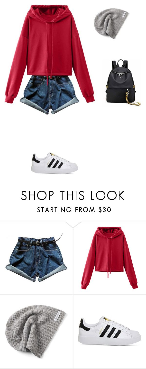 """Untitled #424"" by ericanais on Polyvore featuring WithChic, Converse and adidas"