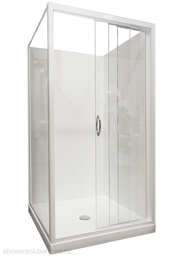 Framed Glass Sliding Shower Door 3 Panel Sliding Corner Square Shower Shower Sliding Glass Door Sliding Shower Door Sliding Doors