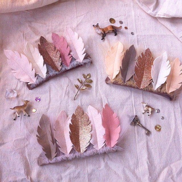 Felt feather crowns. Fancy Free Finery on Instagram at @fancyfreefinery or visit our Etsy page at https://www.etsy.com/shop/fancyfreefinery