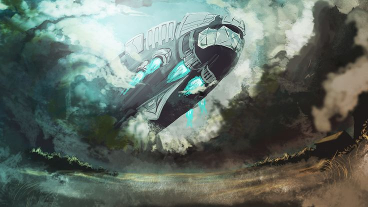 Junker Horizon - Digital painting It's kinda sketchy in nature, it was more of a mockup than anything but I liked the way it panned out.