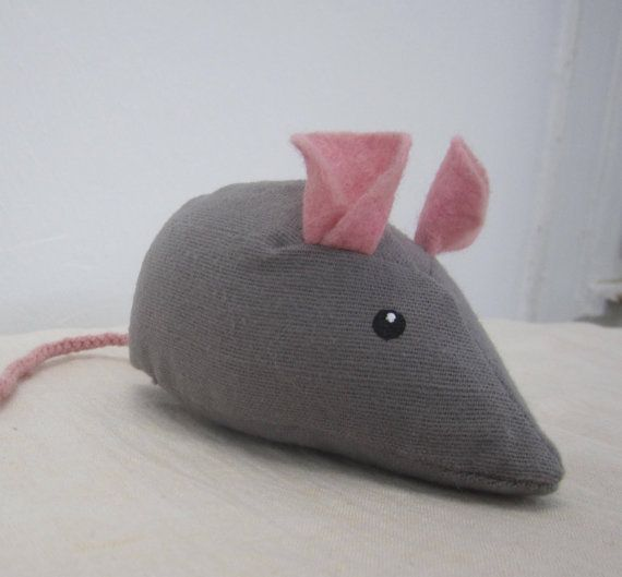 Mouse, crib toy, nursery toy, bedtime toy $6