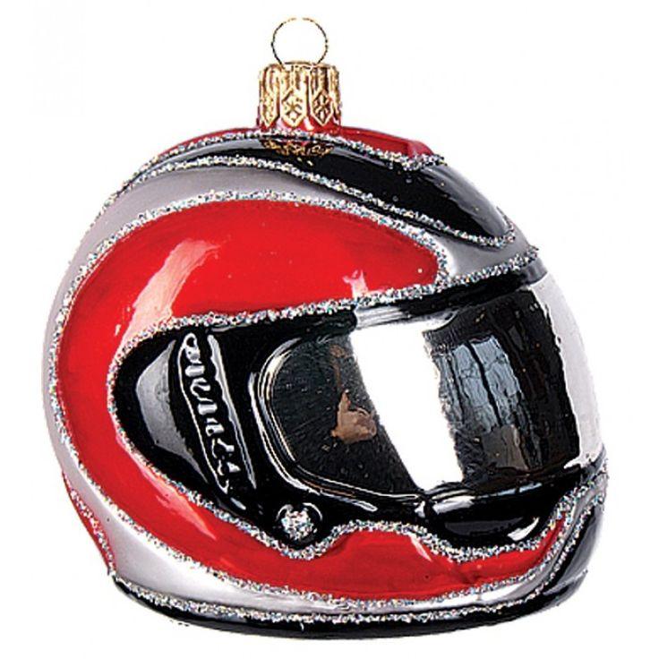 Gartenschätze: Weihnachtsbaumschmuck Motorradhelm