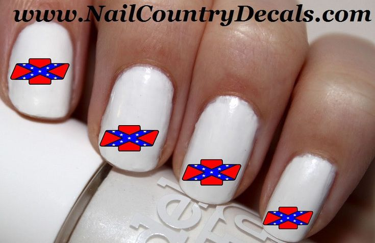 50pc Rebel Chevy Bowties Nail Decals Nail Art Nail Stickers Best Price NC1978