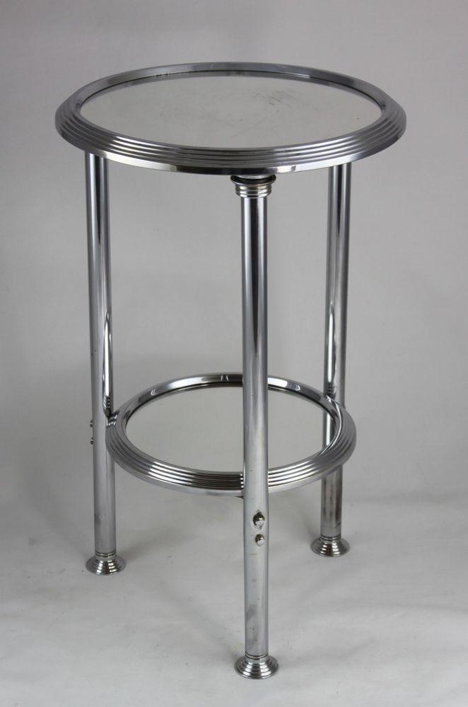 Original Art Deco Beistelltisch Chrom Tisch Modernist Table Beistelltisch Chrom Beistelltisch Deko