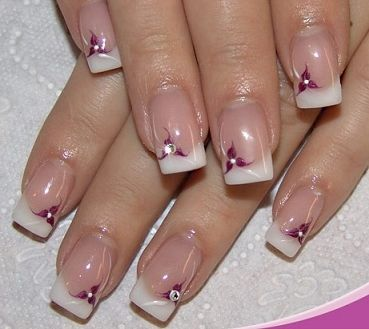 french manicure | French manicure was all about mild pink nail paint and a white shade ...