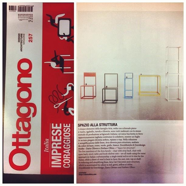 DOROLIFESTYLE aria piace, pubblicazione su Ottagono febbraio 2013