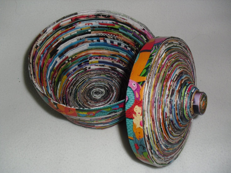 Paper Coil Bowl Ive Made A Few Of These The Folding And