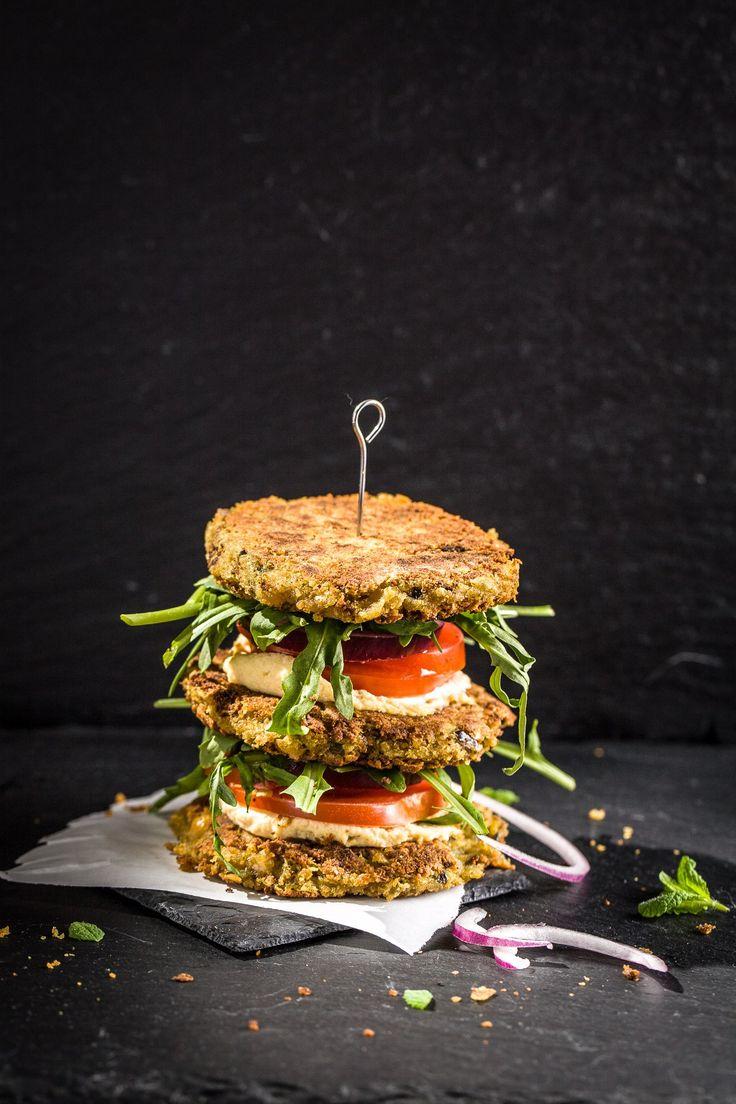 Falafelburger, Burger, Falafel, vegan, glutenfrei, Foodphotography, Foodstyling, ihana, Foodblog