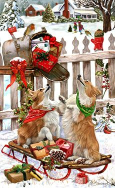Corgi Christmas Delivery - by Margaret Sweeney