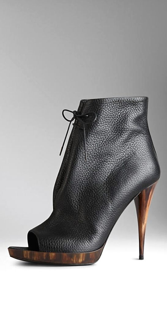 Burberry peep-toe ankle boots