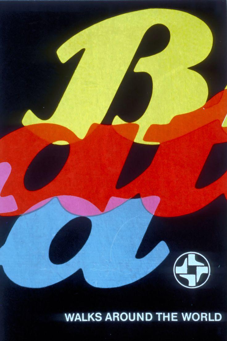Bata Walks Around the World, ca. 1980 #batashoes #bata120years #advertising