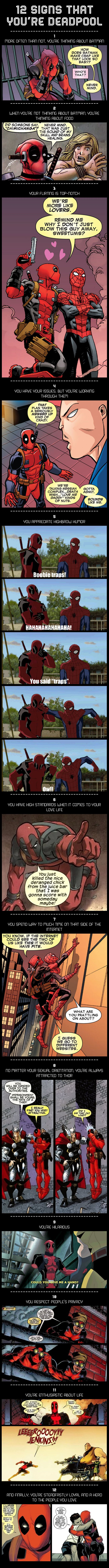 12 Signs That You're Deadpool