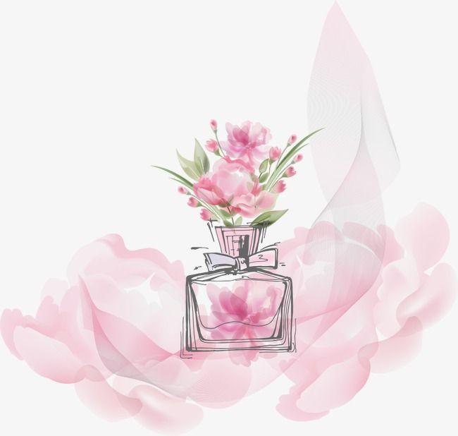 Flowers Vector Perfume Bottle In 2020 Perfume Logo Perfume Perfume Bottles
