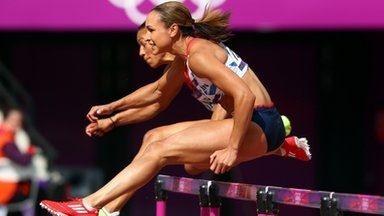 Awesome Jessica Ennis from Olympic Team GB sets a world record for 100m Heptathlon Hurdles (source BBC News - Home) #Olympic2012 #TeamGB #Ennis