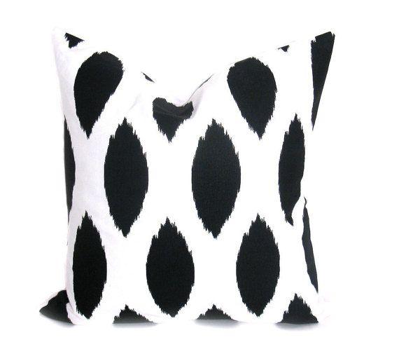 Black Pillow Cover - Black Pillow - Pillow Case - Black and White - Decorative Pillow - Pillows - Black Throw pillow - Home Decor - Cushion