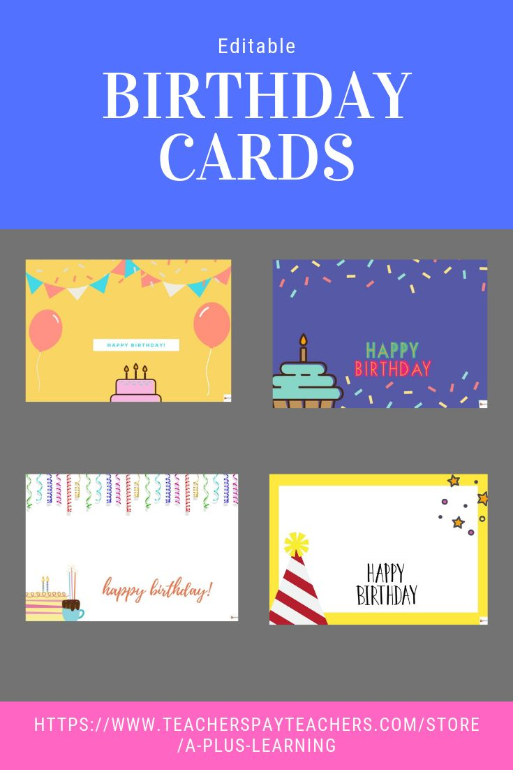 Birthday Cards Birthday Card Template Student Birthdays Birthday Cards