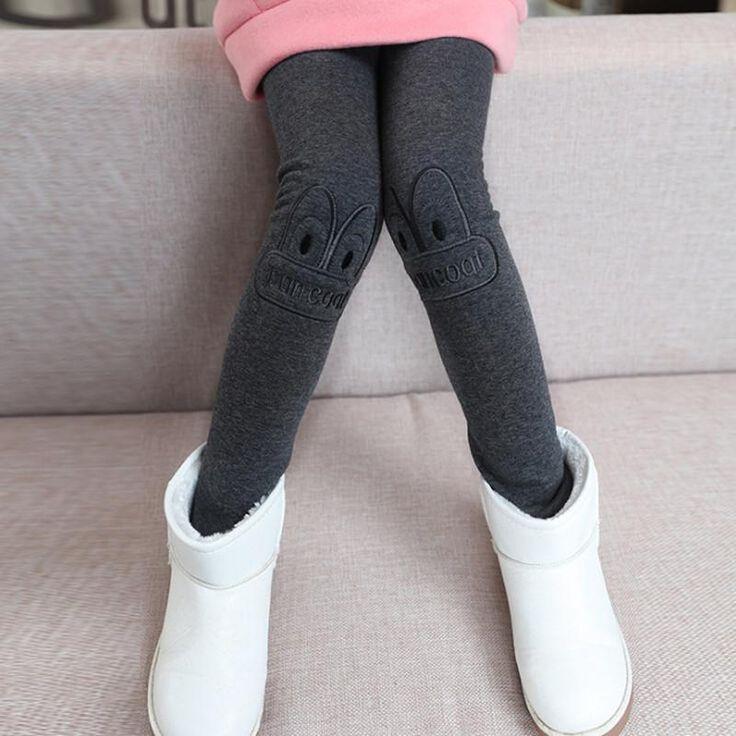2017 Teens Kids Girls Leggings Cartoon Cotton Pants Cashmere Pant Elastic Waist Warm Girl Legging Cashmere Thick Velvet Trousers #Affiliate