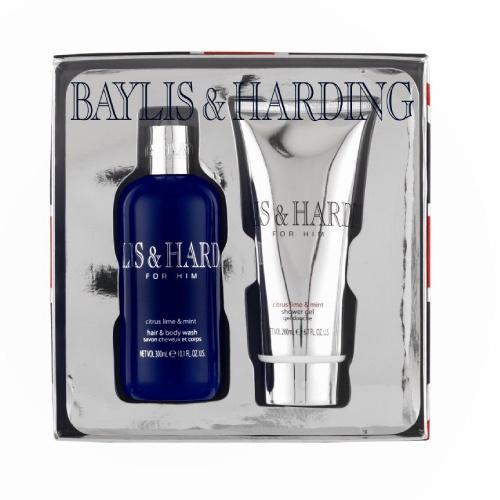 Baylis And Harding Navidad Citrus Lime & Mint duo un aroma refrescante que podras difrutar en 300ml de jabon para el cuerpo y cabello & 200ml gel de baño.