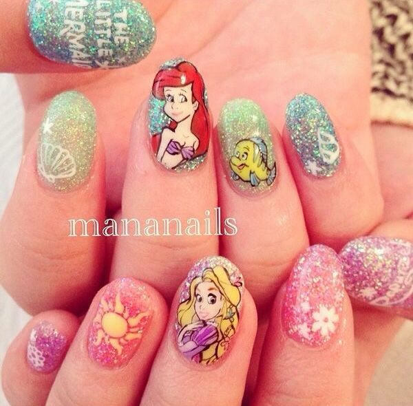 Rapunzel Nails: 101 Best Images About Disney Nails On Pinterest