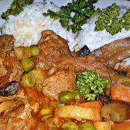 Fotografie receptu: Dušené vepřové plecko se zeleninou