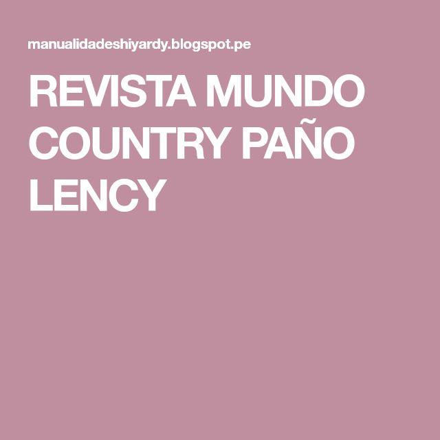 REVISTA MUNDO COUNTRY PAÑO LENCY