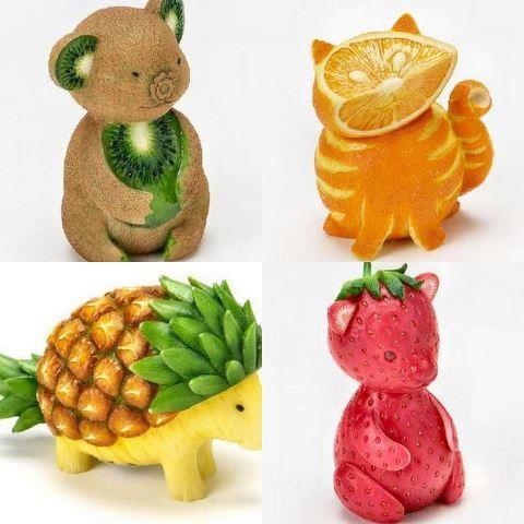 Fruit Animals. Cute.