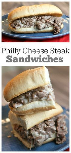 Philly Cheese Steak Sandwiches recipe: an authentic recipe you can make at home!  Recipe from RecipeGirl.com.