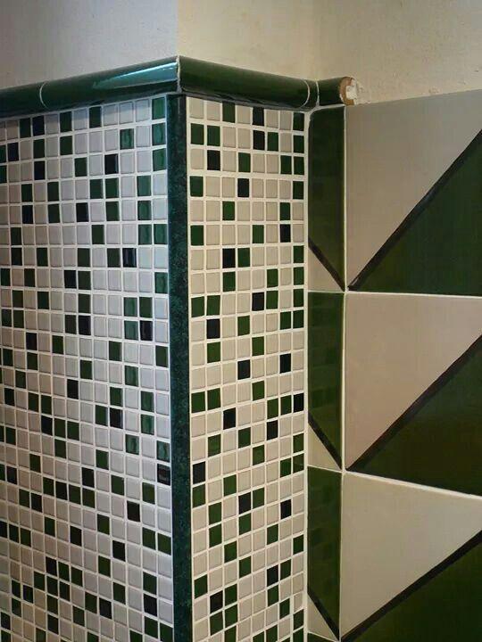 Mosaico in Ceramica Mix Nero-Verde-Bianco COMED Ceramiche