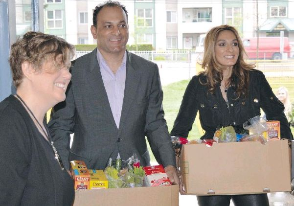 David and Manjy Sidoo support hungry families in need.