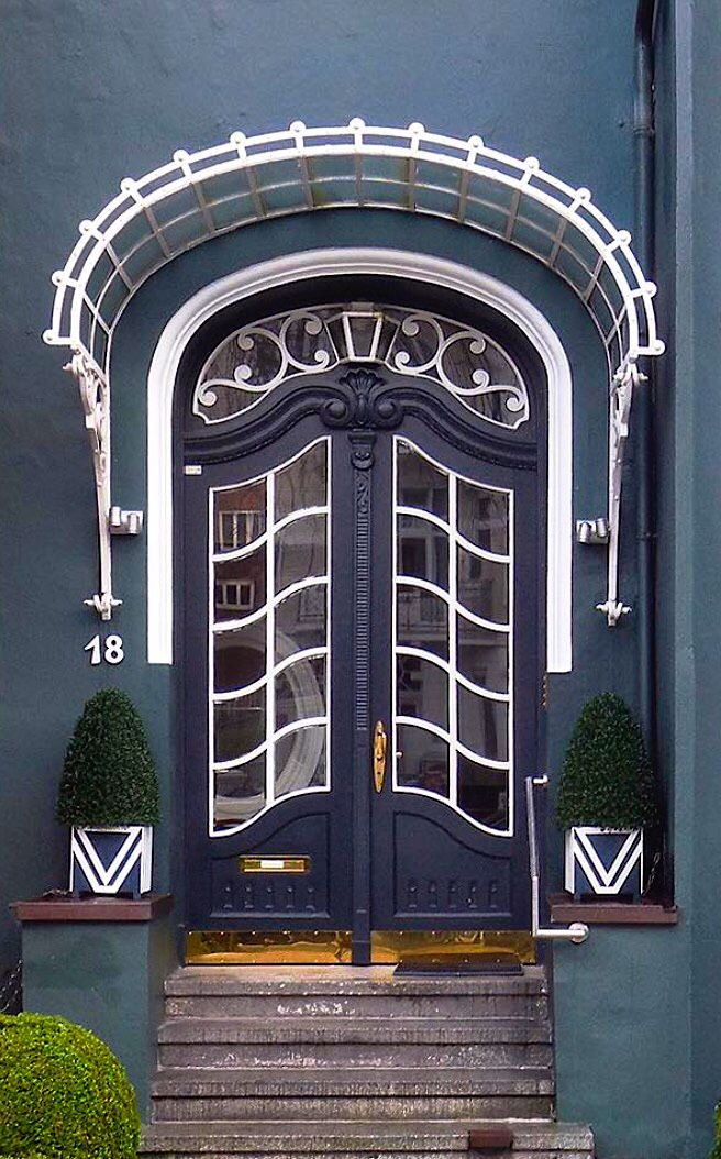 Class Door And Entrance In Eimsbüttel, Hamburg, Germany