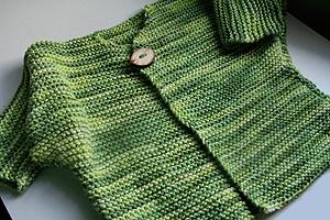 One Button Cardigan Free Knitting Pattern