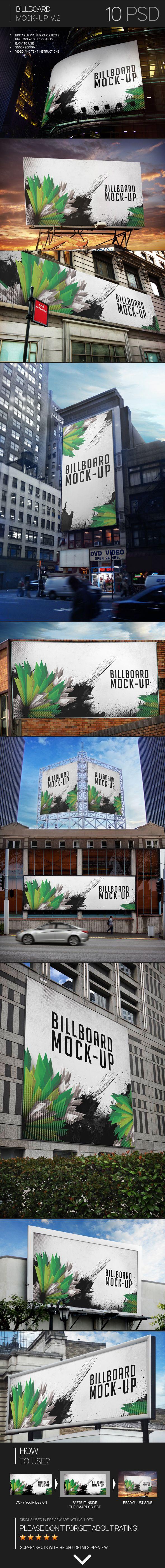 Billboard Mock-Up Vol.2 by Eugene Smith, via Behance
