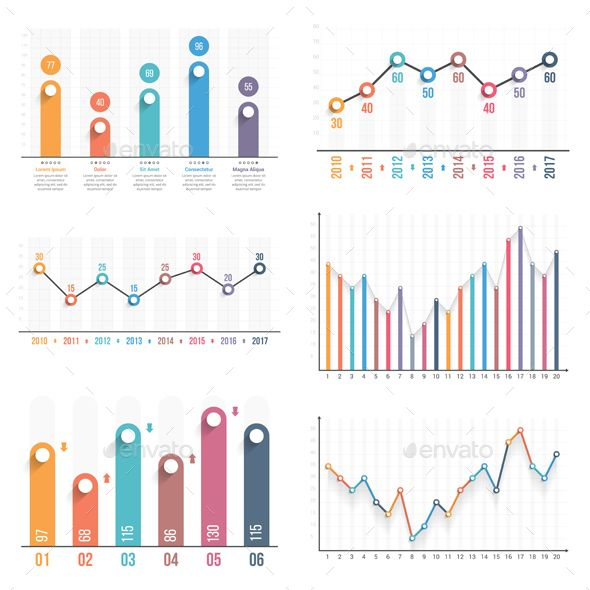 Bar And Line Charts With Images Chart Infographic Line Graphs