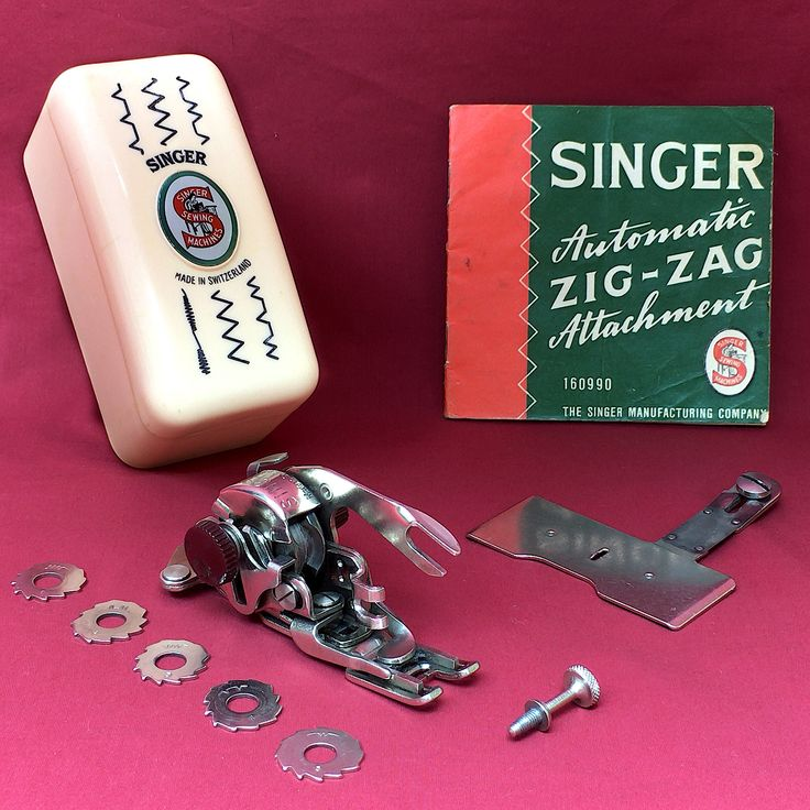 COMPLETE Singer 160990 Automatic Swiss Zig-Zag Vintage Attachment Walking Foot ZigZagger Set by 3FTERS on Etsy