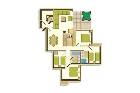 Four Bedroom Floorplan Example Woodland Lodge